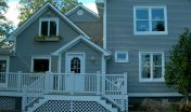Covenant Construction Group - Rear Addition with Deck, Custom Railing, Front View - Ann Arbor, MI