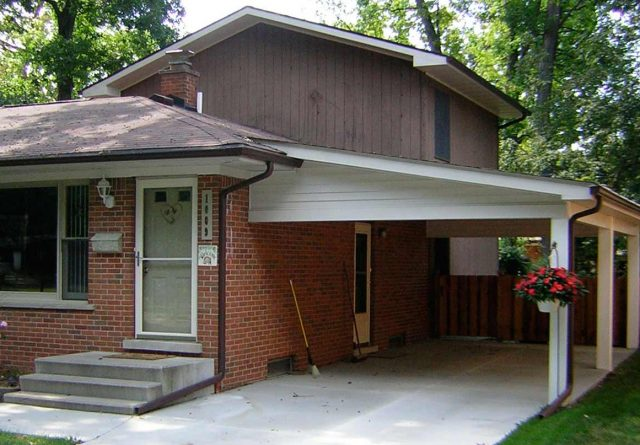 Covenant Construction Group - Car Port Addition, Siding Support Columns and Roof Matching - Ann Arbor, MI