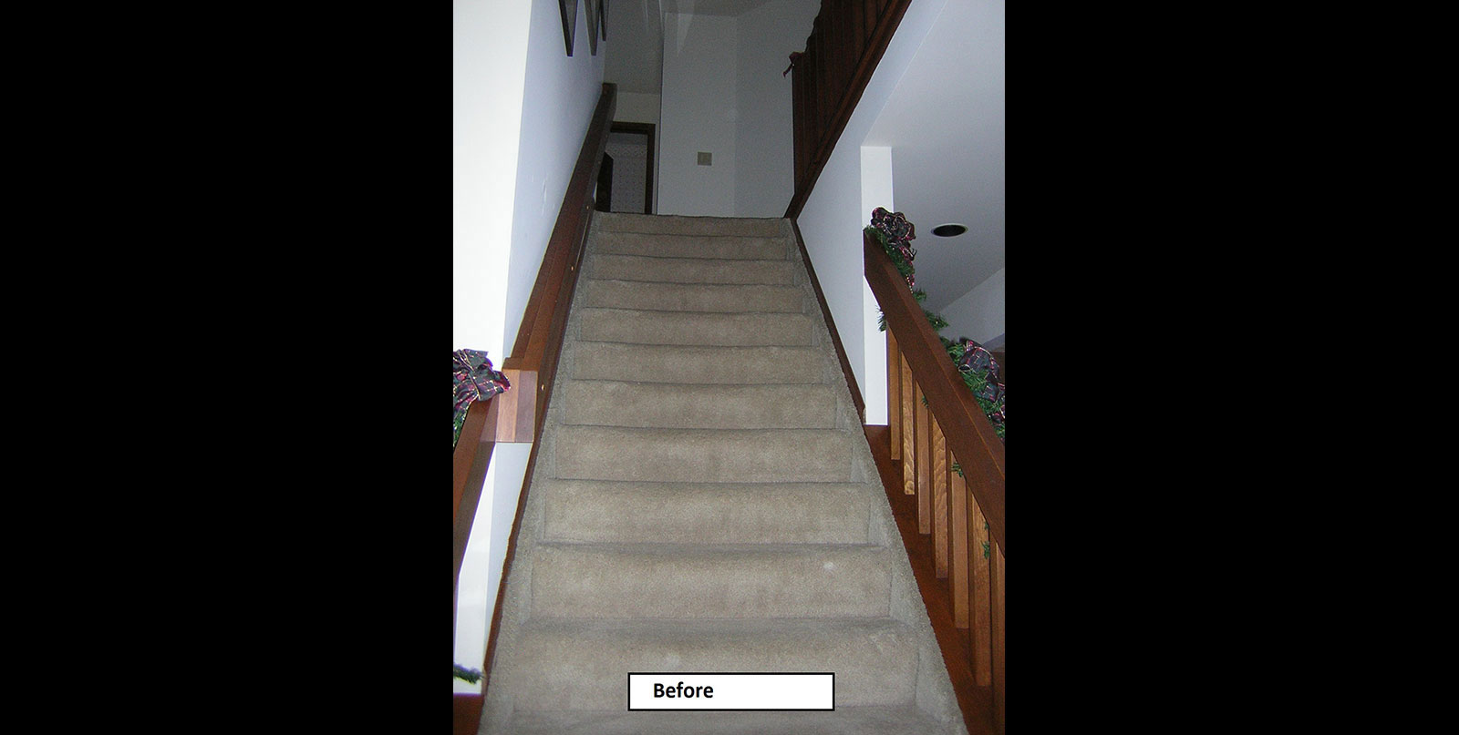 Covenant Construction Group - Complete Home Remodel, Before, Stairway Downstairs - Ann Arbor, MI