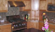 Covenant Construction Group - Complete Home Remodel, After, Kitchen Cabinets and Range - Ann Arbor, MI