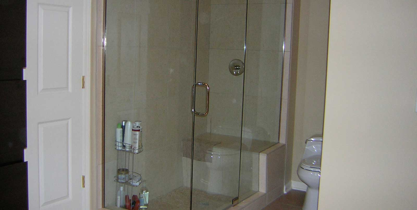 Covenant Construction Group - Bathroom Remodel, Glass Shower Enclosure and Toilet Nook - Ann Arbor, MI