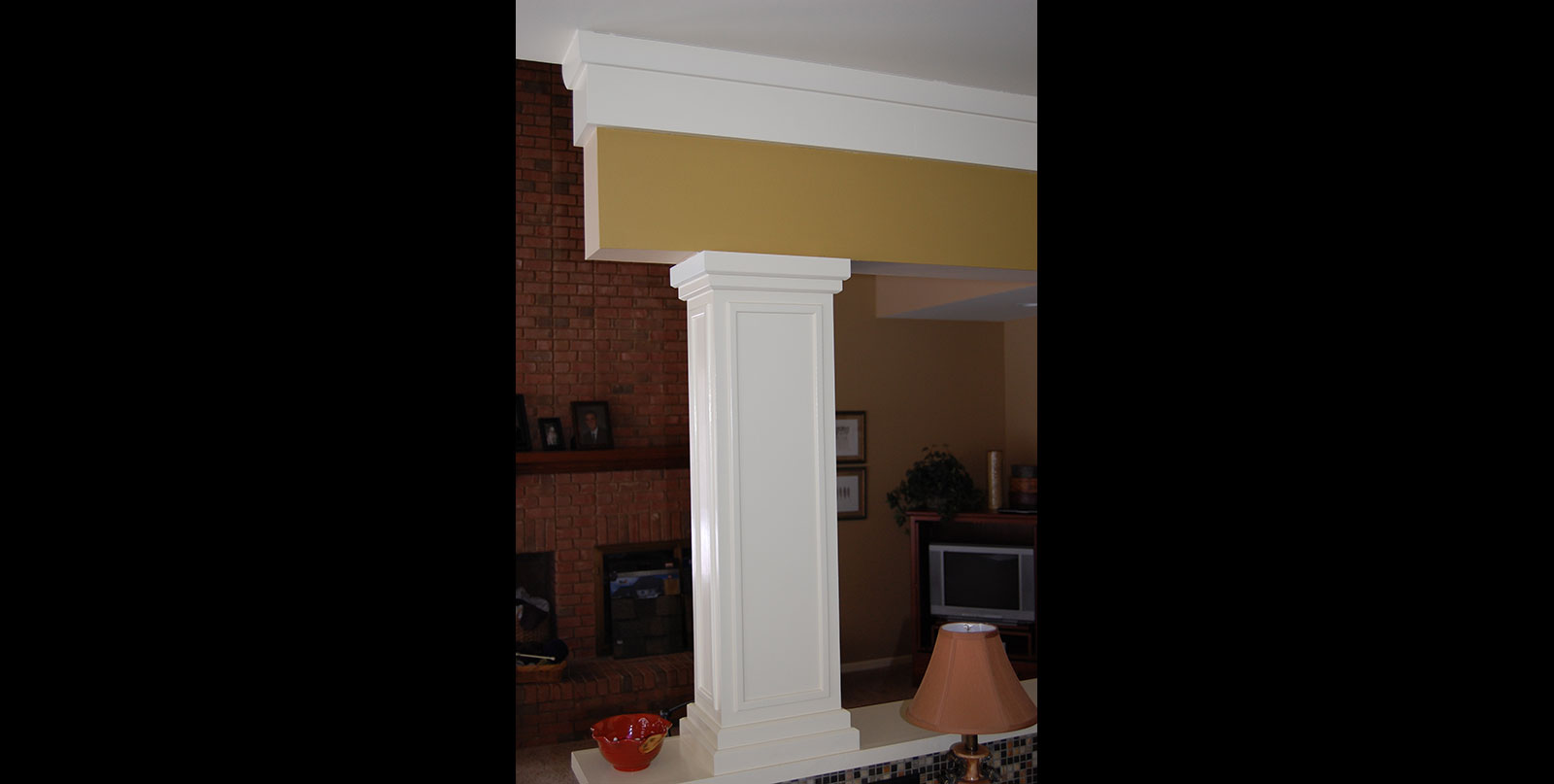 Covenant Construction Group - Complete Home Remodel, After, Custom Pillar Detail - Ann Arbor, MI