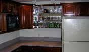 Covenant Construction Group - Basement Remodel, Kitchenette and Bar with Custom Cabinets - Dexter, MI