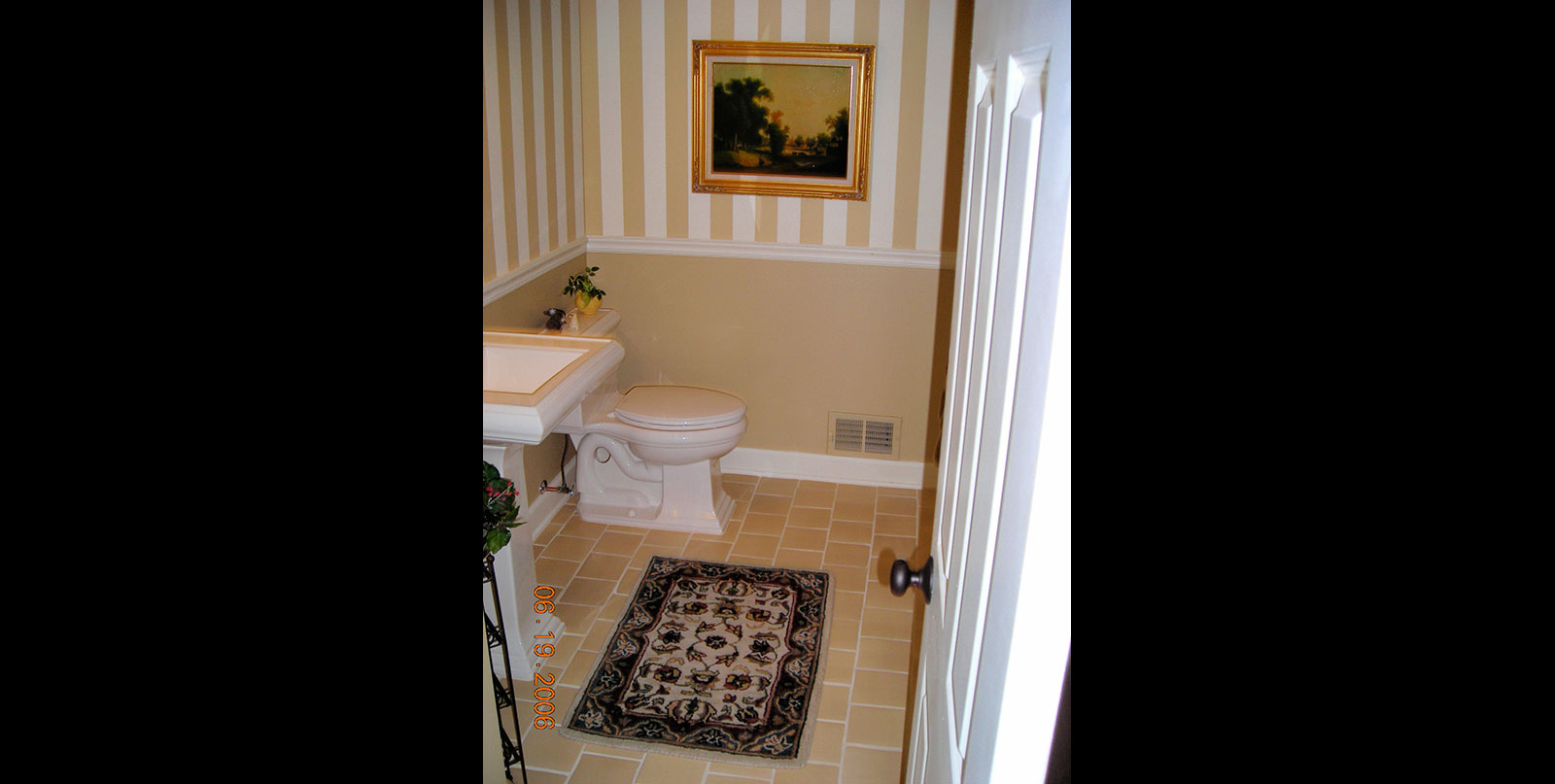 Covenant Construction Group - Bathroom Remodel, Half Bathroom with Room Design and Custom Tile - Ann Arbor, MI